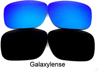 8c217ddd2c Galaxy Replacement Lenses for Oakley Holbrook Black Blue Color Polarized 2  Pairs