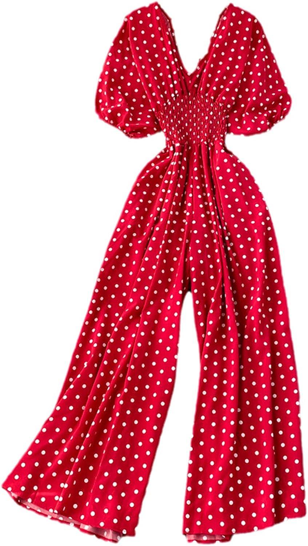 KOKDFE Autumn Women Sexy Polka Romper Regular store Dot Jumpsuits Ladies Sale special price Thin