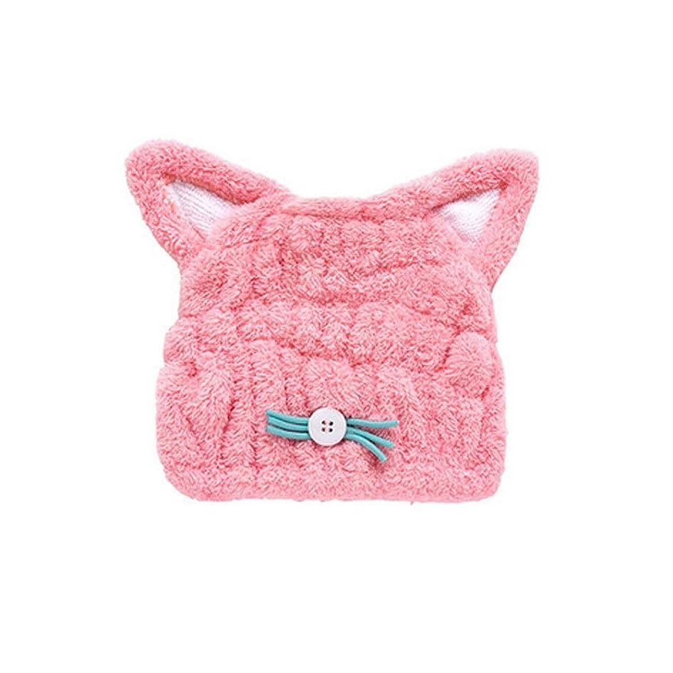 弾力性のあるアイロニー売上高シャワーキャップ、贅沢なシャワーキャップ、再利用可能なシャワーのすべての髪の長さと厚さの女性に適したかわいいドライシャワーキャップブルーピンク。 (Color : Pink)