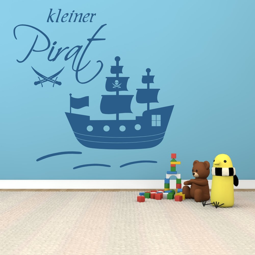 100 x 100 cm de pared XXL 68163 -, pequeño~, gran barco pirata con para la