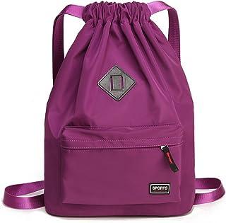 Drawstring Backpack Purple Emu Gym Bag