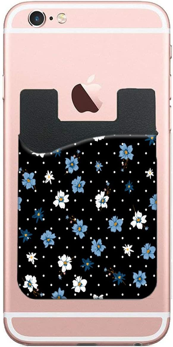 ZXZNC Fresno Mall Card Holder for Back of Polka Do Flowers Modern Portland Mall Phone Wild