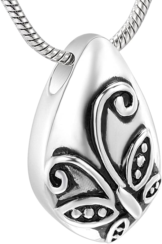 memorial jewelry Charm Heart Angel Wings Motorcycle Urn Necklace Keepsake Cremation Pendant