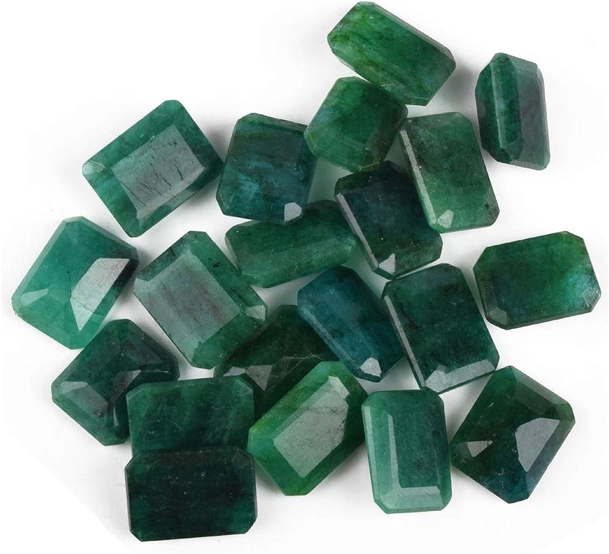 gemhub Zambian A+ Grade Green Emerald Approx 200 Cts. Fine 20 Pieces Natural Green Emerald Loose Gemstones Lot