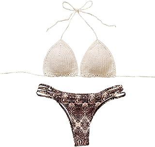 99a4d1a28b Costumi Donna, DoraMe Nappe Swimwear Bikini Set Patchwork da Bagno Due Pezzi