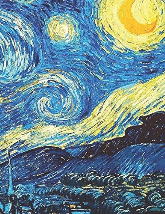人差し指光電同行600 Page Sketchbook: Vincent Van Gogh Starry Night Art Journal for Doodling and Sketching