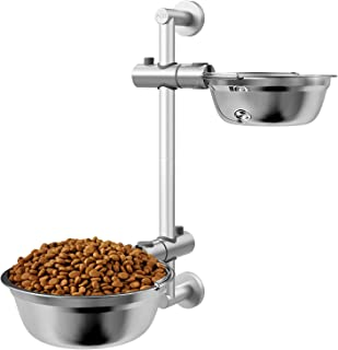 Pedy Raised Dog Bowl, Adjustable Elevated Pet Feeder, Food Stand Stainless Steel Bowl