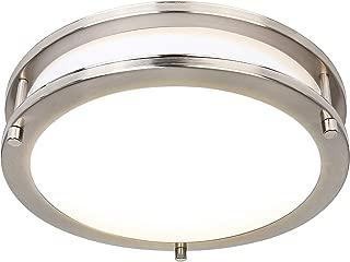 Hykolity 18 Inch LED Ceiling Light, 30W [240W Equivalent] 1900lm 2700K Warm White BN Finish Dimmable Saturn Flush Mount Ceiling Light, ETL Listed for Kitchen, Bedroom, Restroom