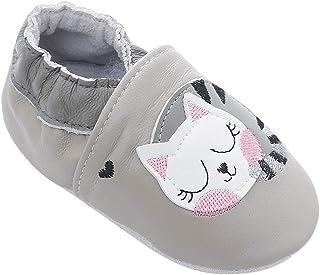 BabyCareV Chaussures de bébé en Cuir Souple avec Mocassins Semelles en Daim pour Enfant