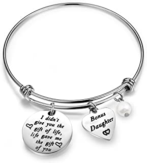 Stepdaughter Gifts Daughter in Law Bracelet I Didn't Give You The Gift of Life Life Gave Me The Gift of You Step Daughter Gifts from Stepmom