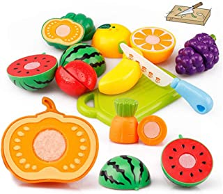 Hli-SHJHsmu 20PCS Cutting Fruit Vegetable Pretend Play Children Kid Educational Toy Fruits and Vegetables Long Game Toy Kids Dolls