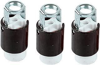 Candelabra Base Keyless Porcelain Socket,TWDRTDD E12 Base Lamp Holder Light Socket with Short Threaded Mounting Bracket (Pack of 3)