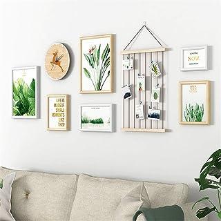 Foto pared simple moderna fotos de la pared decoración de la pared sala de estar marco marco de pared cáñamo cuerda clip d...