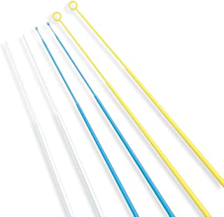 Scientific Labwares Disposable Inoculating Loops and Needles, 10.0 Micro liters, Sterile, Polystyrene, Blue (Pack of 20)