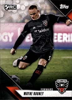 2019 Topps MLS #155 Wayne Rooney RC Rookie D.C. United Soccer Trading Card