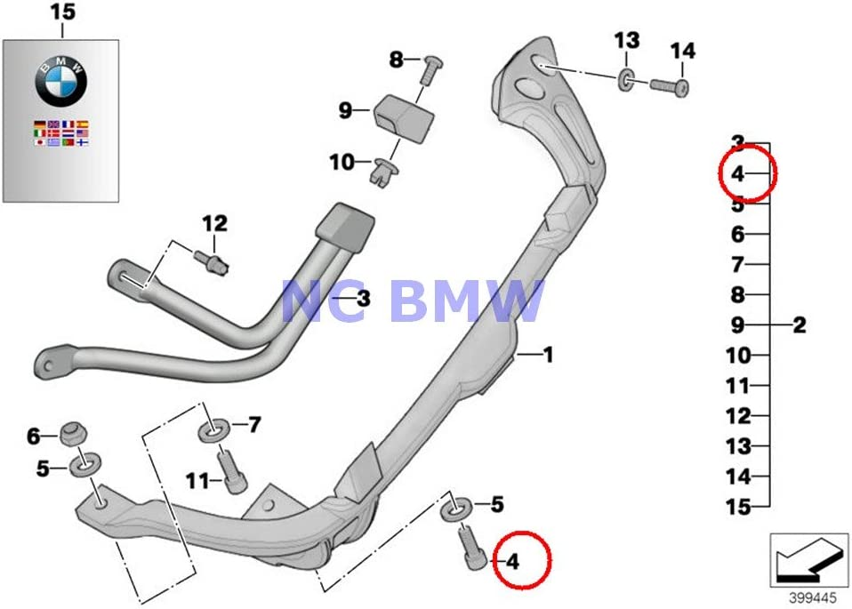 6 X BMW Genuine Motorcycle Fillister-Head 2021new shipping free shipping R100R M6X25-ZNS Ranking TOP4 Screw