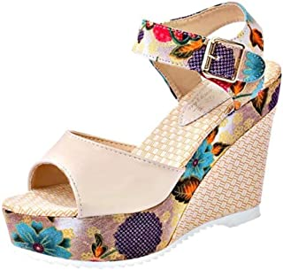 Bohemian Sandals,Boomboom Women's Leisure Wedge Sandals