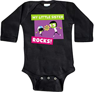 Inktastic My Little Sister Rocks- Dee and Dot Long Sleeve Creeper - PBS KIDS