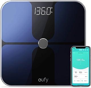 eufy توسط آنکر ، مقیاس هوشمند با بلوتوث ، مقیاس چربی بدن ، مقیاس حمام دیجیتال بی سیم ، 12 اندازه گیری ، وزن / چربی بدن / BMI ، تجزیه و تحلیل ترکیب بدن بدن ، سیاه و سفید ، پوند / کیلوگرم در خیابان