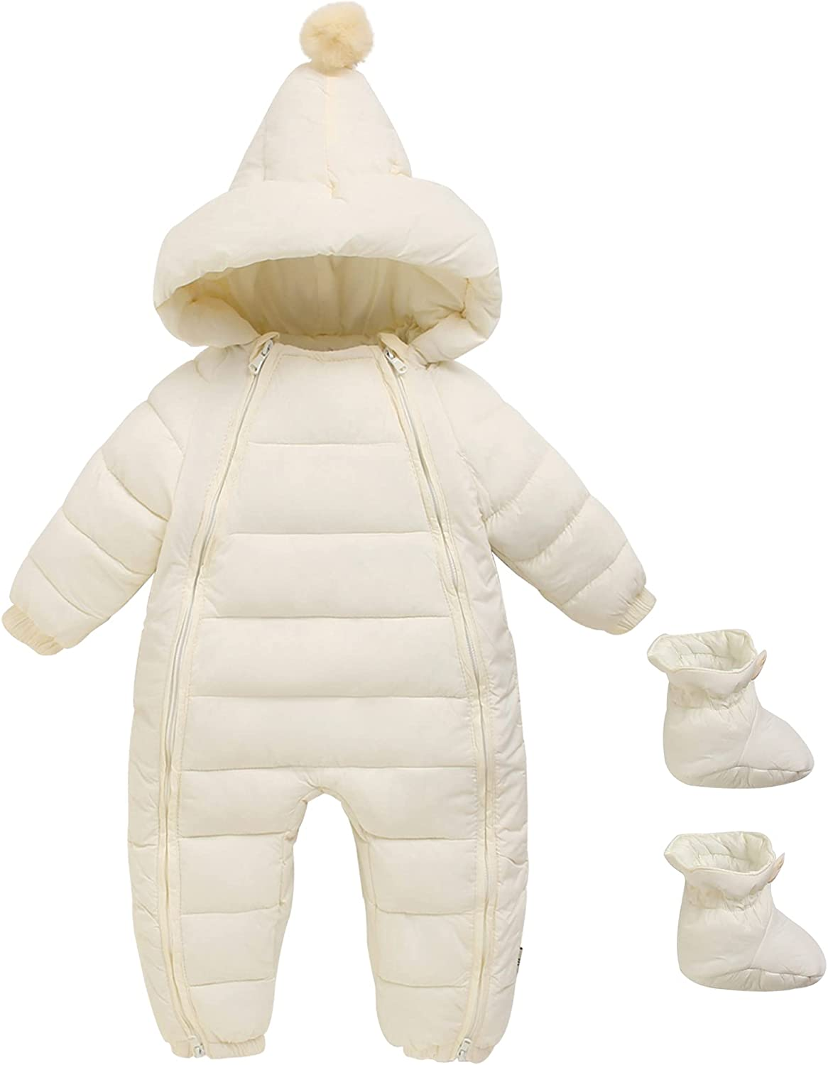 Baby Boys Girls Genuine Free Shipping Winter Warm Romper Fit Jumpsuit Hooded Large discharge sale Loose Bun