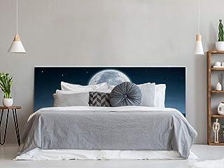 Cabecero Cama PVC Luna en Mar 150x60cm | Disponible en Varias Medidas | Cabecero Ligero, Elegante, Resistente y Económico