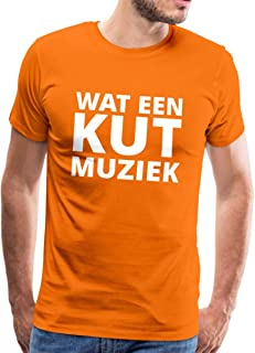 Spreadshirt Wat Een Kut Muziek Koningsdag Feestje Mannen Premium T-shirt