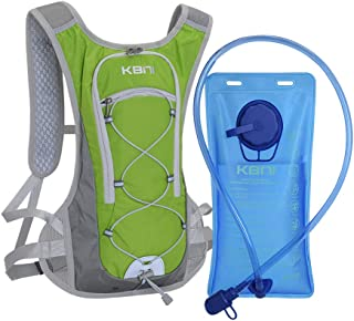 KBNI Hydration Backpack with 2 Litre (68 Ounce) Water Bladder, Lightweight, Suitable for Outdoor Hiking Running Cycling Ca...