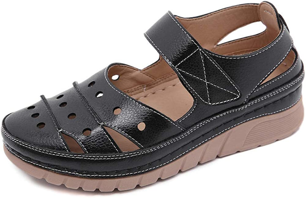 Women's Sandal Closed Toe PU shopping Non-S Vintage Portland Mall Summer Casual Leather