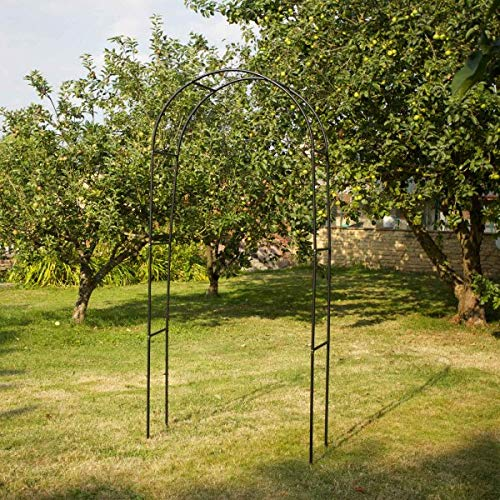 garden mile 2 x 1m Garden Arch Outdoor Climbing Plants Garden Decor Strong Easy Assembly Trailing Plant Flower Vegetable Support Patio Lawn Yard