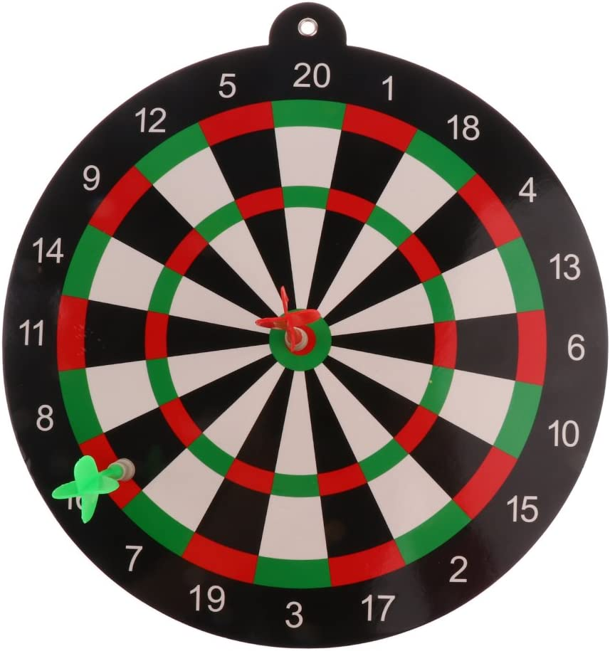 simhoa Easy-to-use Dart Set with 9.45inch Board Seasonal Wrap Introduction Magnet Kids Darts and 2