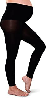 Preggers Footless Maternity Tights - Black-Tall