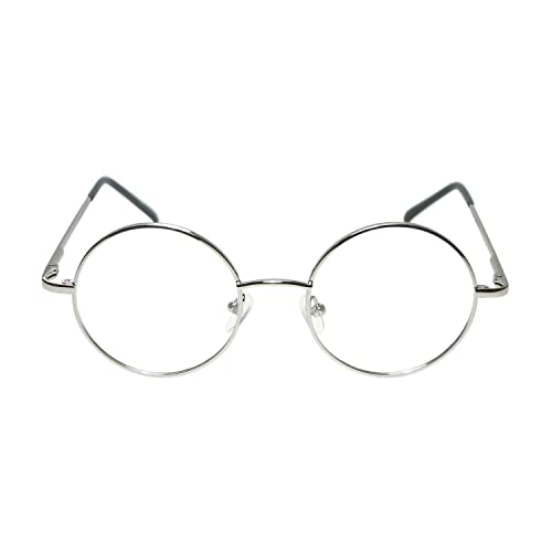 8b386f14614 Adults   Kids Fancy Dress Glasses (WORLD BOOK DAY) (Round Silver or gold