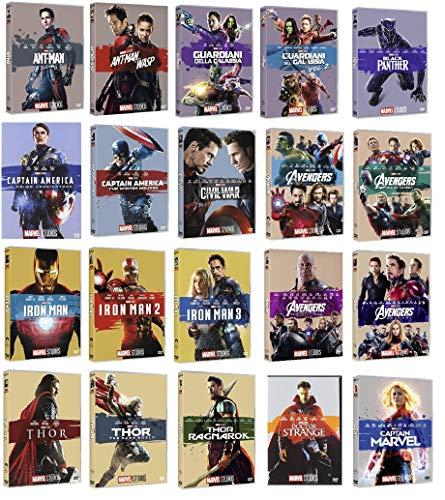 MARVEL STUDIOS COLLEZIONE COMPLETA (20 DVD) COFANETTI SINGOLI, EDIZIONE ITALIANA - COMPRENDE CAPTAIN MARVEL E AVENGERS ENDGAME