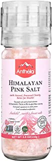 Anthela Himalayan Pink Salt, Coarse Grain Mini Mill 3.8oz, Premium Organic Gourmet 100% Pure Ancient Mineral Sea Salt.Non-GMO, Kosher, Halal, Sedex Certified.