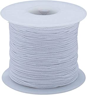S&S Worldwide na S&S Worldwide White Medium Elastic Cord