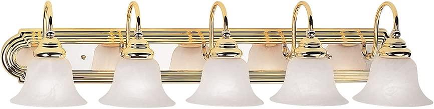 Livex Lighting 1005-25 Belmont 5-Light Bath Light, Polished Brass and Chrome