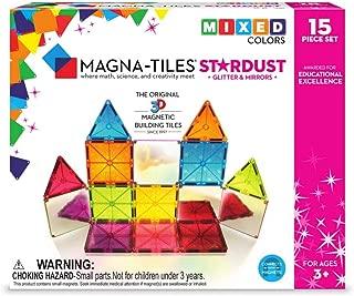 Magna Tiles Stardust Set, The Original, Award-Winning Magnetic Building Tiles, Creativity & Educational, Stem Approved, Glitter & Mirrors