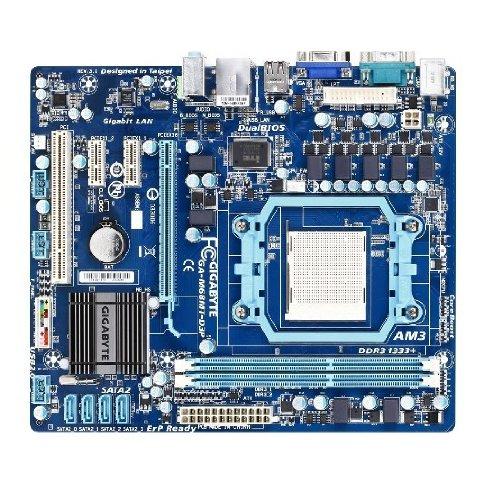 Gigabyte GA M68MT D3P Mainboard Sockel AMD AM3 DDR3 Speicher Micro ATX