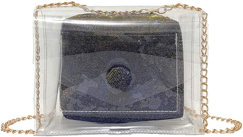 Bloomerang 2018 Maison Fabre Fashion Women Laser Transparent Crossbody Bags Shoulder Bag+Messenger Bag p Dropship color blueee