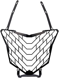 Putars Motorcycle Large Lampshade Motorcycle Accessories Motorcycle Mesh Black Grill Headlight Cover Wire Stone Guard Headlight Compatible for Honda CB500X 2016-2017