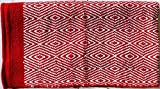 CHALLENGER Cotton Western Show Trail Horse Saddle Blanket Double Weave Red White 32X64 3725