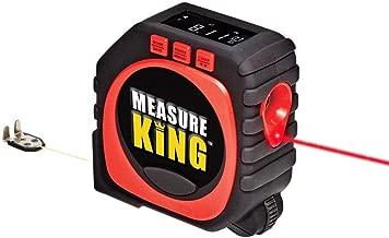 Mixen Measure King 3-in-1 Digital Tape String Mode Sonic Mode and Roller Mode Universal Measuring (Black)