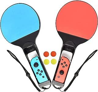 TURPOWスイッチ卓球ラケット スイッチ卓球ラケット スイッチ/マリオピンポンバット テーブルテニスラケット ポータブルバット スポーツラケット 2個セット … (type 1)