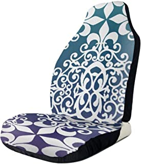 Kunpeng Purple and Teal Damask States Car Seat Covers Vehicle Seat Protector Car Covers for Auto Cars Sedan SUV