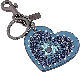 COACH Womens Heart Applique Bag Charm
