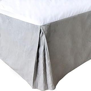 RUIDP Sängkjol polyester enfärgad fyra säsonger sängkappor enkel halkfri dammsäker två sidor av lotusbladen tvättbart damm...