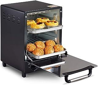 Horno vertical, Horno casero Mini horno de pizza inteligente automático multifunción, Calefacción infrarroja con tubo de cuarzo, Control de temperatura preciso de 0 ℃ -220 ℃, Bandeja de escoria tipo