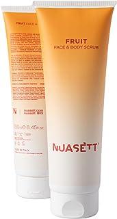 NUASÉTT® Exfoliërende Gezichts- en Lichaamsscrub (Maxiformaat 250 ml) met Abrikozenpit, Lavastenen, Oliën en Natuurlijke E...