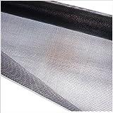 Rollo de tela mosquitera - 150 x 250 cm - gris antracita