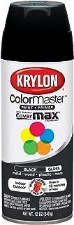 Krylon K05160107 ColorMaster Paint + Primer, Gloss, Black, 12 oz.